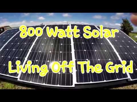 Living Off The Grid - 800 Watt Solar Powered Trailer RV