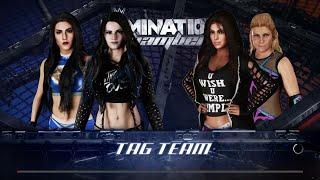 WWE 2K18 - Paige and Tess Blanchard VS Layla and Natalya