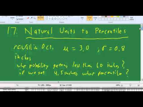 17. stats Natural units to Percentiles
