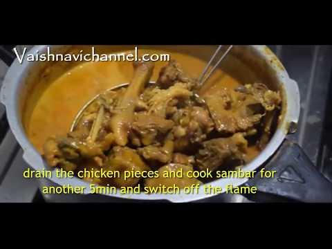 Nati Koli Saaru-Traditional village style in Kannada/Koli bassaru/Chicken sambar
