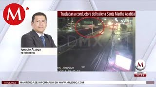 Video Trasladan a conductora de tráiler a Santa Martha download MP3, 3GP, MP4, WEBM, AVI, FLV November 2018