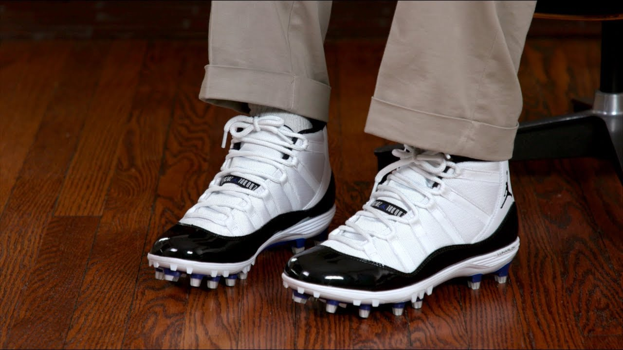 ee6482cc529 Shoe Hack  Jordan 11 Cleats As Shoes - YouTube