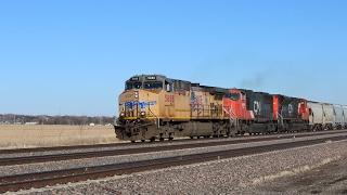 Railfanning Along UP's Triple Track Nebraska Mainline 2/4/2017 thumbnail