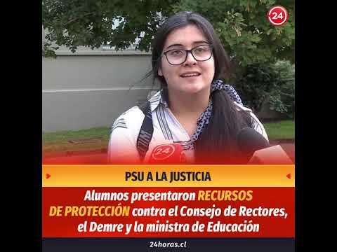 Estudiantes chilenos protestan contra la selección PSU