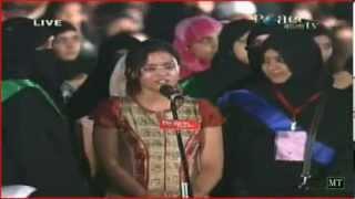 Girl justfies idol By Dr Zakir Naik Urdu Peace Conference Nov 2011