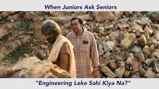 When juniors ask seniors