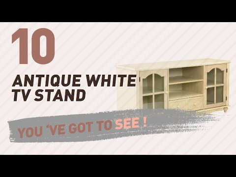 Antique White TV Stand // New & Popular 2017