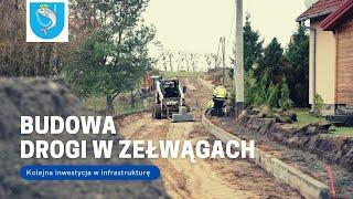 Budowa drogi w Zełwągach