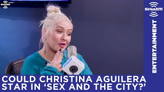 Christina Aguilera does her best Samantha from Sex and the City impression