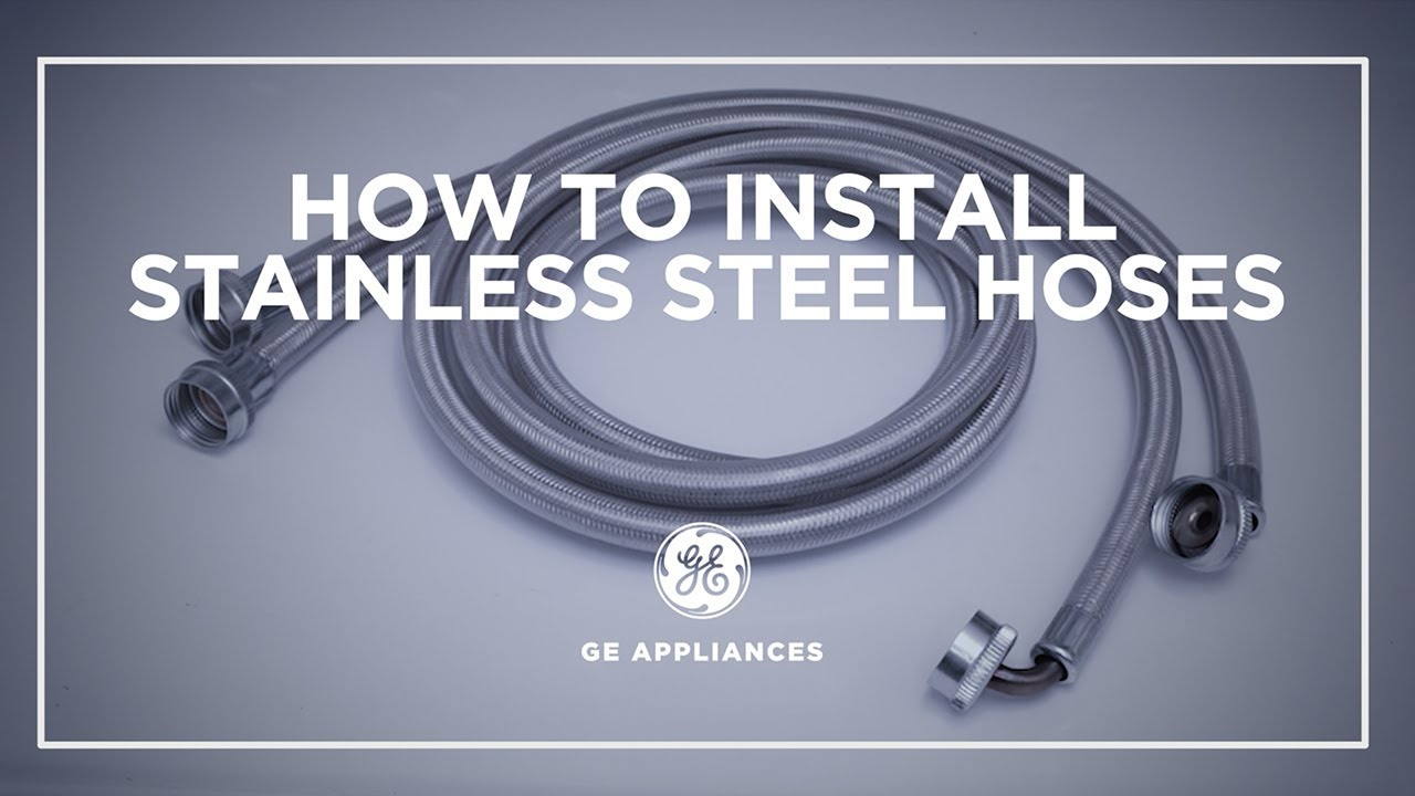 Washer Steel Hose Installation Youtube