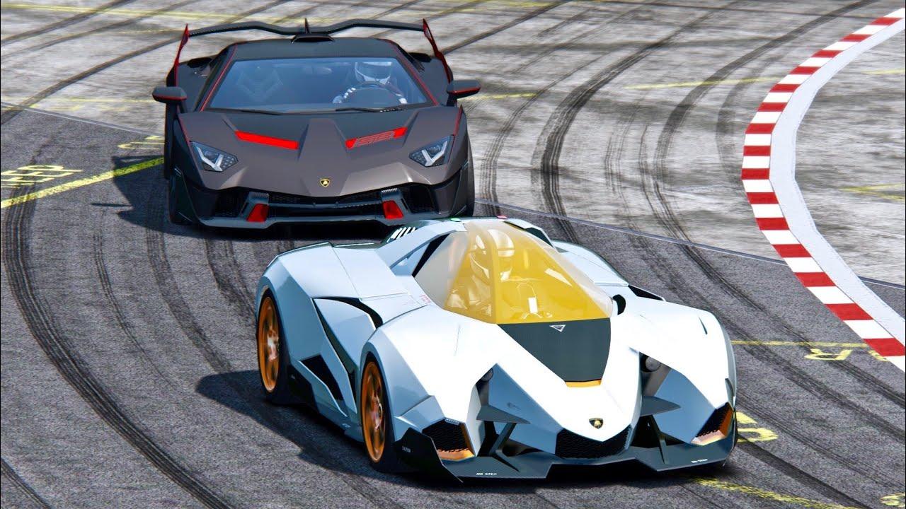 Lamborghini Sc18 Alston Vs Lamborghini Egoista Top Gear Track