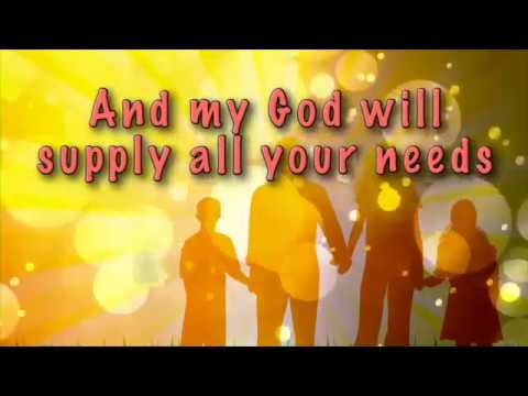 To Our God Philippians 4 19 20 Lyric Video When I Sing