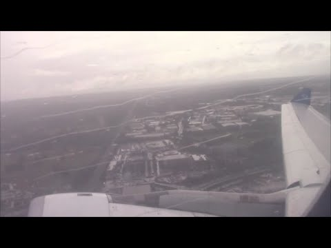 Air Transat Airbus A330-300 [C-GCTS] Horrible Weather Takeoff from London Gatwick