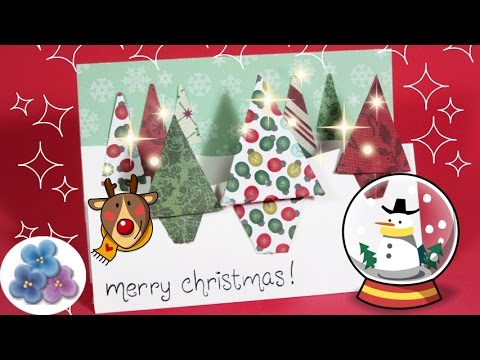 christmas cards 2015 3d greeting cards easy to make xmas craft ideas mathie youtube - Photo Xmas Cards