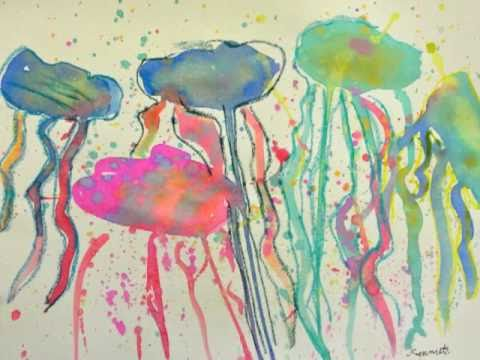Drip Jellyfish Painting Project For Kids
