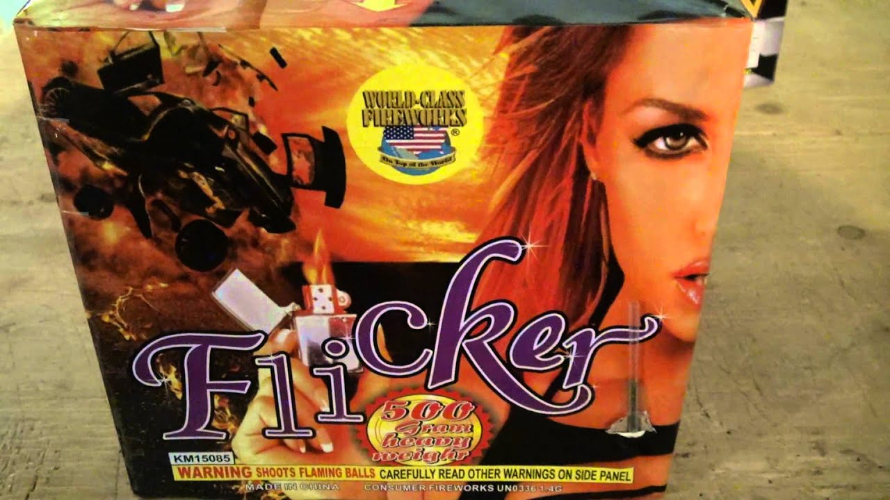 Firework Review] Flicker 500G Cake by World Class Fireworks - YouTube