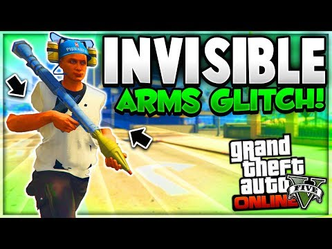 "GTA 5 Online: *NEW* INVISIBLE ARMS GLITCH & THEY STICK! ""After Patch 1.42"" (GTA 5 Glitches)"