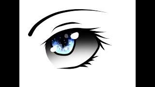 Как рисовать глаз, мышкой и графическом планшете(Пробный урок)(Страница в Вконтакте: http://vk.com/knyaz311201 Группа Вконтакте: http://vk.com/knya3112014 Комментируйте и ставьте лайки., 2014-11-23T19:27:46.000Z)