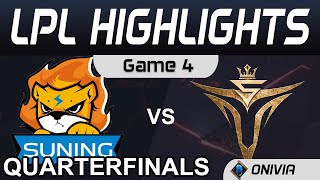SN vs V5 Highlights Game 4 Quarterfinals LPL Summer Playoffs 2020 Suning vs Victory Five by Onivia