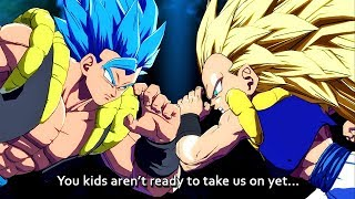 ALL Gogeta Blue Vs Gotenks Special Quotes - Dragon Ball FighterZ DLC Unique Dialogue