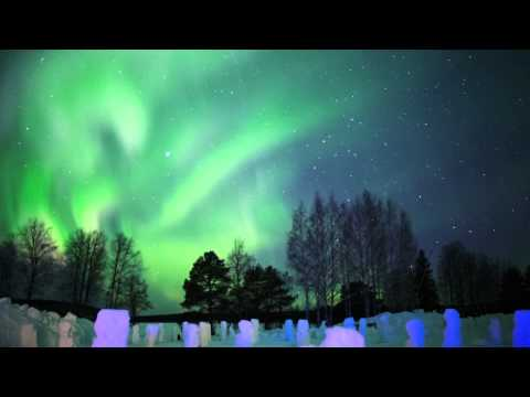 Northern Lights in Arctic SnowHotel in Rovaniemi in Lapland Finland - hotel with aurora