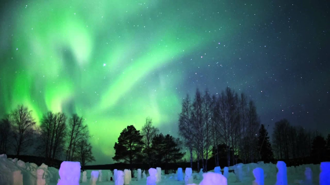 northern lights in arctic snowhotel in rovaniemi in lapland finland hotel with aurora youtube