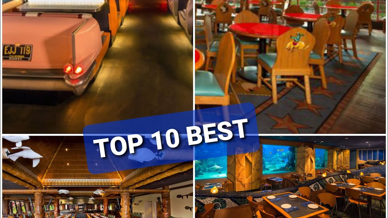 Top 10 Disney Sit Down Dining Locations At Walt Disney World In Orlando Florida