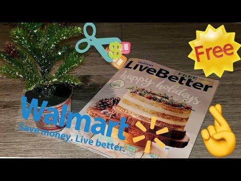 FREE WALMART MAGAZINE Flip Through   HOLIDAY EDITION   ANY COUPONS??   Extreme Couponing