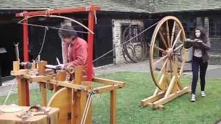 Joseph Moxon C17th Wood Lathe At Shibden Hall Halifax 2014