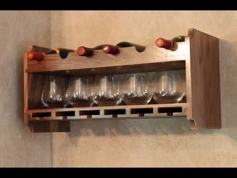 Wine Glass Rack Wall Mount Youtube