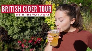 Americans Try British Cider | Thatchers Cider Tour | Travel Beans & The Way Away In England Part 2