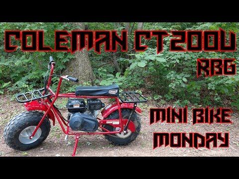 Coleman CT200U Mini Bike Unboxing & Ride (Mini Bike Monday)