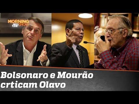 Bolsonaro e Mourão criticam Olavo de Carvalho. Entenda essa treta!