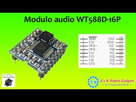High-quality WT588D-16p voice module Sound modue audio player for Arduino