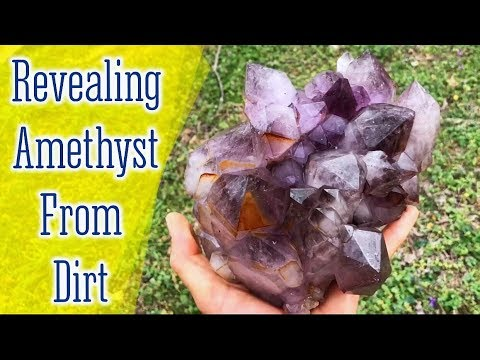 Spectacular Amethyst Crystals being found & cleaned up!
