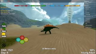 Kill The T-rex! | Roblox Dinosaur Simulator Stegosaurus Gameplay