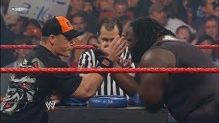 John Cena vs (Worlds Strongest Man) Mark Henry, Arm Wrestling match: Raw, February 4, 2008