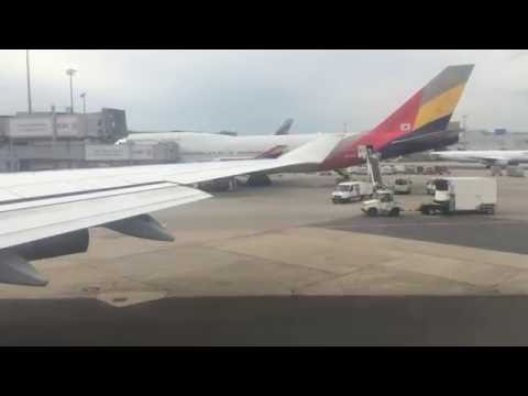 Lufthansa 747-400 Pushback, Taxi and Takeoff Frankfurt