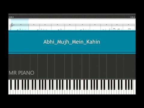 Abhi Mujh Mein Kahin Easy Piano Tutorial Synthesia
