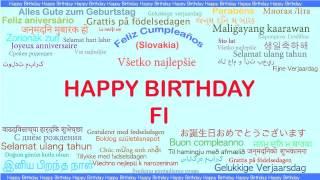 Fi   Languages Idiomas - Happy Birthday