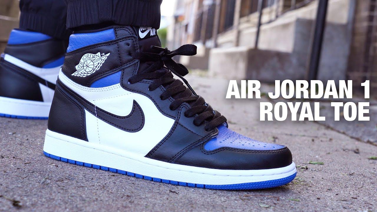 Air Jordan 1 Royal Toe Review On Feet Youtube