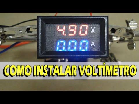 Como ligar Voltimetro digital com amperimetro Passo-a-Passo completo
