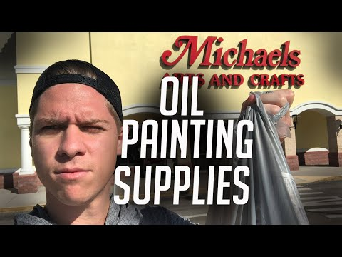 Buying oil painting supplies from Michaels