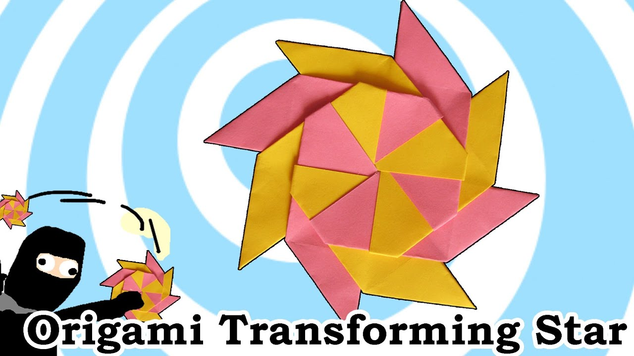 Origami Transforming Ninja Star (8-Pointed) - YouTube - photo#19