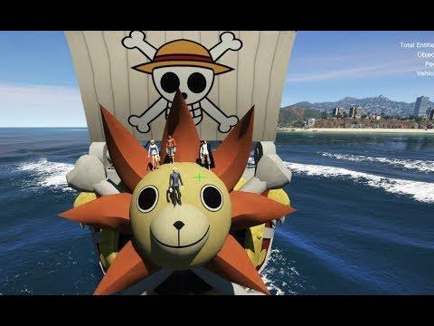 GTA 5 – Vua hải tặc hài hước – Nhóm Luffy tấn công Shanks tóc đỏ | GHTG