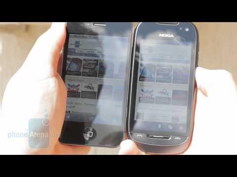Nokia 701 vs Apple iPhone 4 display brightness comparison