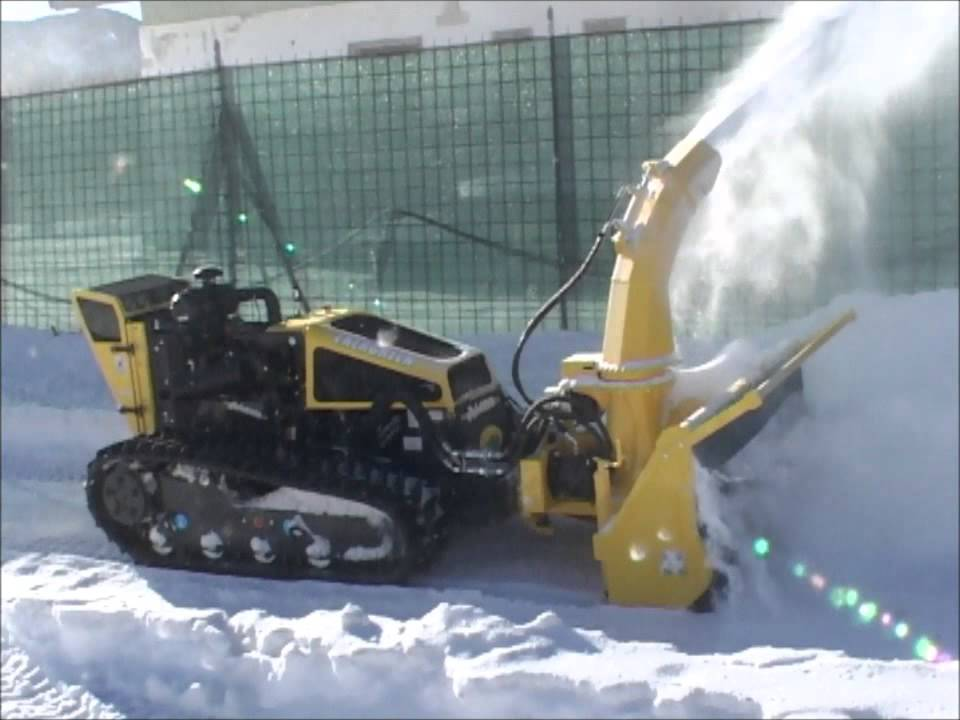 Industrial Snow Blowers : Alamo industrial traxx rf snow blower head hd youtube