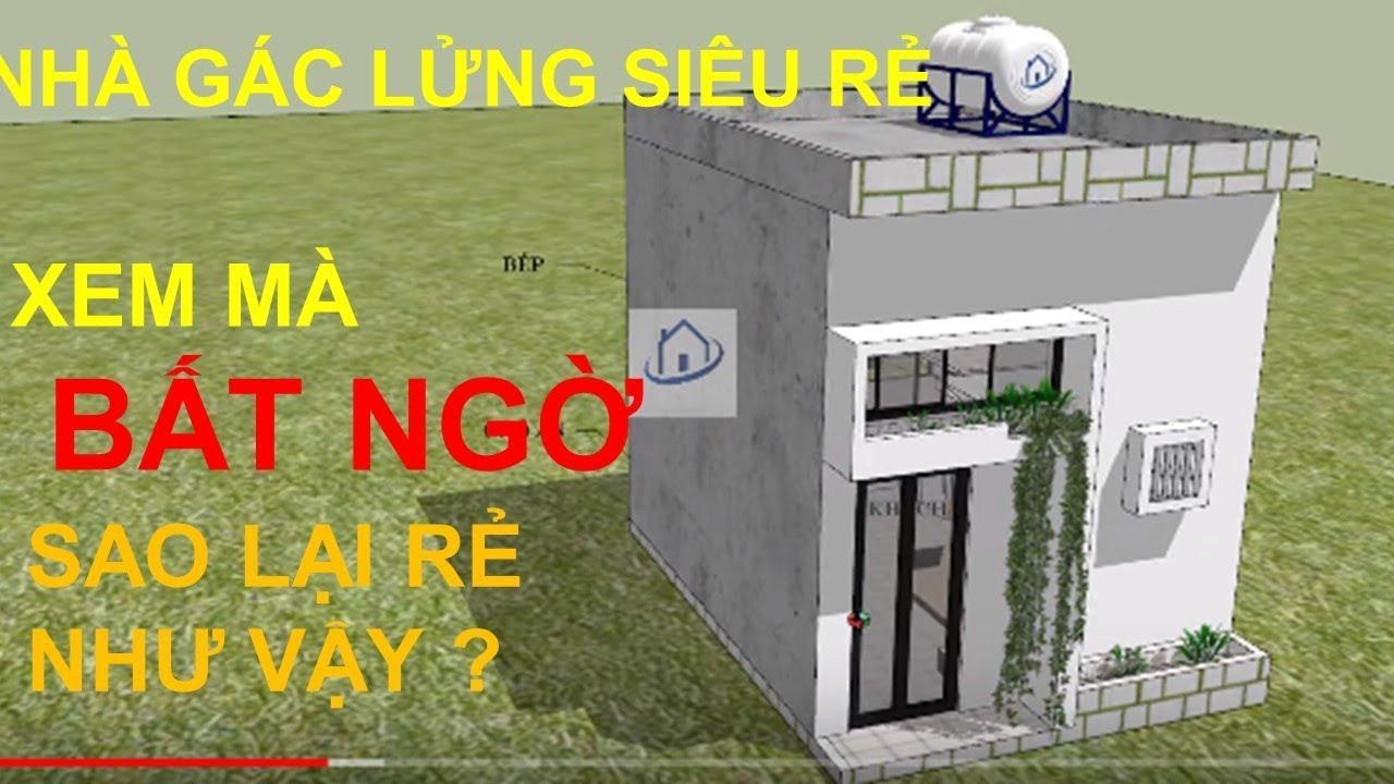 NHÀ 50 triệu VNĐ – Nhà Gác lửng Đẹp Nhỏ và rẻ tiền nhất Việt Nam |#SAH
