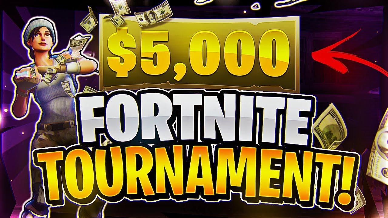 $5,000 Fortnite Tournament! (Fortnite Battle Royale)