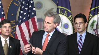 House Majority Whip Kevin McCarthy at House Republican Press Conference On Jobs